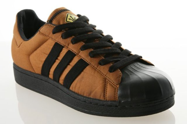 brown adidas superstar