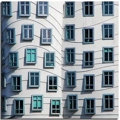 Proximity (Nespyxel) Tags: windows building architecture facade design prague praga pa
