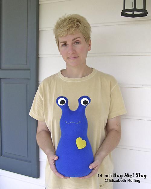 14 inch Hug Me! Slug by Elizabeth Ruffing