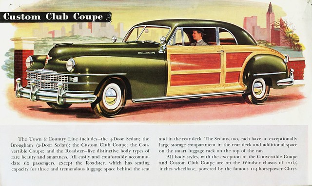 townandcountry chrysler custom brochure 1946 clubcoupe