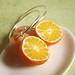 Fruit Earrings - Morning Orange Juice