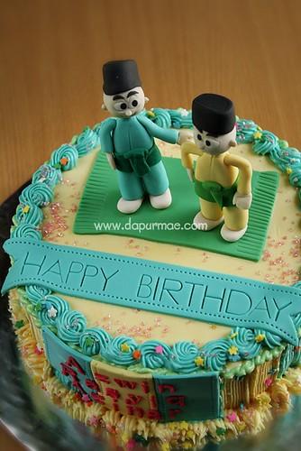 Upin Ipin Birthday Cake