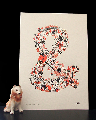 ampersand letterpress print