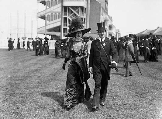 Royal Ascot in 1910; fashion, clothes, style, outfit, vintage, photo, 1910s, 1920s, 130s, 1940s, 1950s, 1960s