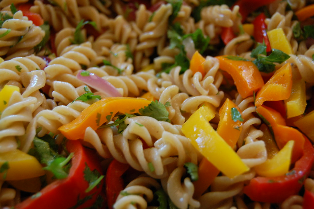 Chicken Pasta Salad with Creamy Lemon Garlic Dressing