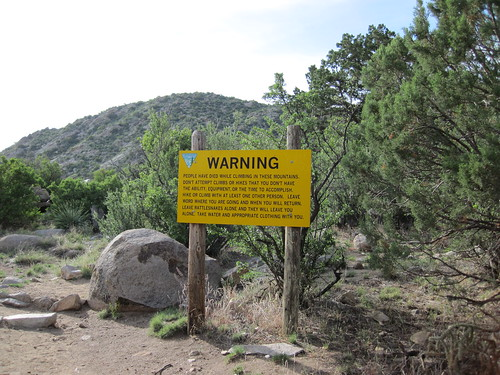 Organ Mountains Danger Sign
