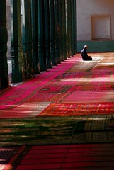 lonely prayers (wowitsstephen) Tags: china travel color carpet asia muslim islam id prayer pray mosque kashgar kneeling kashi challenge kah challengegamewinner herowinner thepinnaclehof kanchenjungachallengewinner tphofweek51