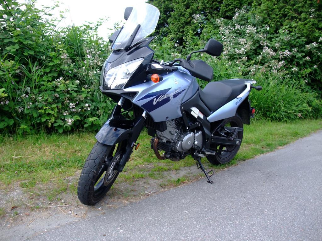 Suzuki DL650 2006 with blackberry background