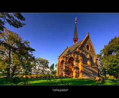 HDR chapel II (hooby-marburg) Tags: sunset church canon germany landscape deutschland hessen country kirche wideangle marburg hdr amneburg sigma1020mm weitwinkel flickraward hzoobymarburg