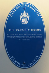 Photo of Assembly Rooms, Exmouth blue plaque