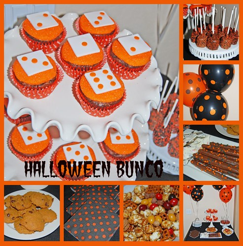 Halloween Bunco Dessert Buffet Collage