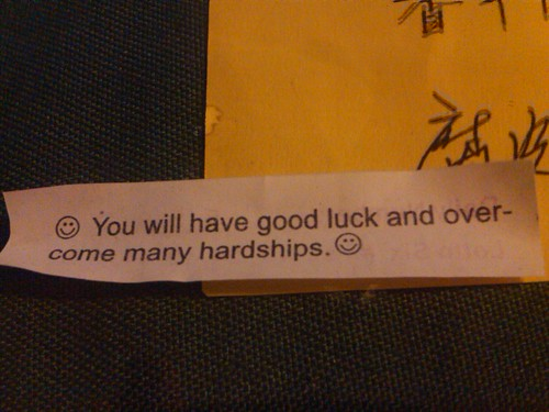 Not a bad birthday fortune cookie!