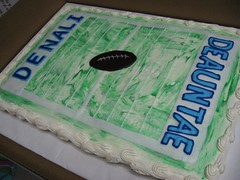 BDB2-K (hotchocolatesbakery) Tags: birthday blue boy green cake football twins birthdaycake footballfield tiedye endzone 50yardline