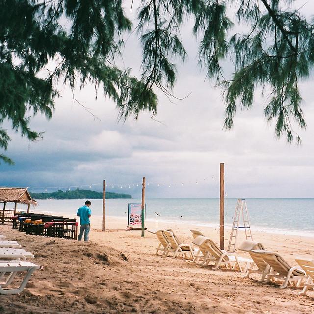 Mitsu on the beach