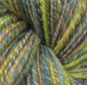 "6 oz 2 ply Hand Spun Worsted Yarn Falkland Wool ""Muddle Puddle"""