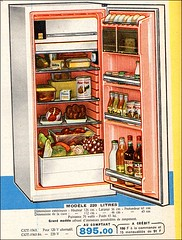 the 1960s-ad for fridge (april-mo) Tags: vintage ads fridge 1963 vintagead the1960s vintageappliance vintagefridge 1960sad vintageelectricappliance manufrancestetienne 1963fridge