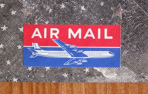 Vintage airmail label