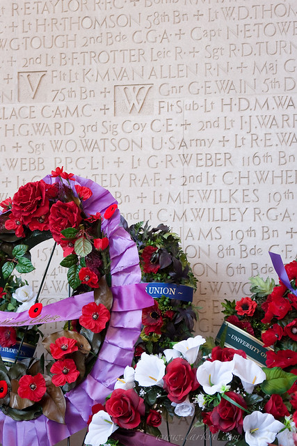 Wreaths and Names, University of Toronto, Rememberance Day, 2010