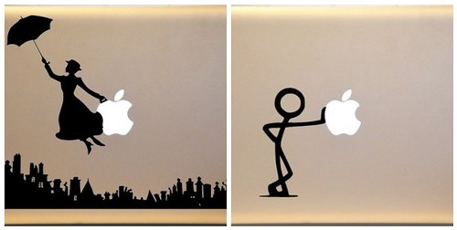 Macbook Vinyl Decal Mary Poppins Stick Figure