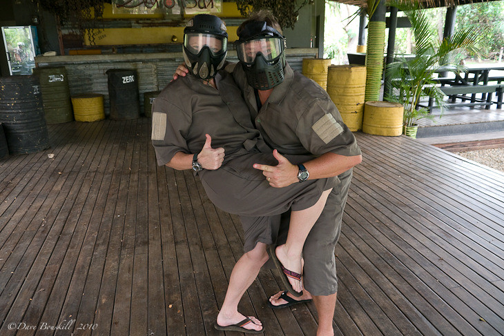 in paintball gear Fiji