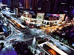 City Don't Need Night (lee.squall) Tags: nanning guangxi china road street cross architecture night light building photography iphonephotography
