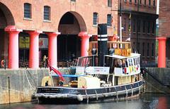 "STEAM TUG ""DANIEL ADAMSON"" (tommypatto : ~ IMAGINE.) Tags: boats tugs albertdock liverpool steam"
