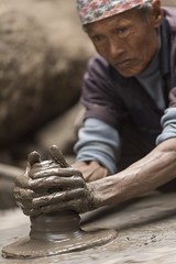 Hand in hand (alfienero) Tags: working people asia nepal thimi vase pot jam labour hand