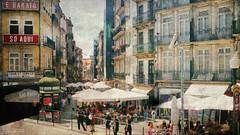 a simple street (*silviaON) Tags: city porto portugal street people textured kerstinfrankart caminhoportuguês