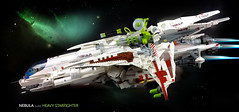 Nebula class Starfighter in space=D (Brick Martil) Tags: toy lego nebula starfighter ship spaceship star space science fiction