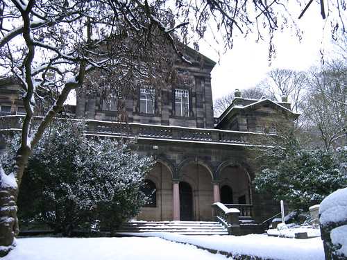The Birchcliffe Centre in snow