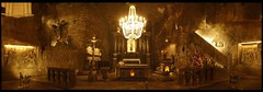 sacred salt (todd richter) Tags: panorama church underground religious cross cathedral interior basilica poland krakow chandelier wieliczka saltmines areyoukiddingme chapelofstkings