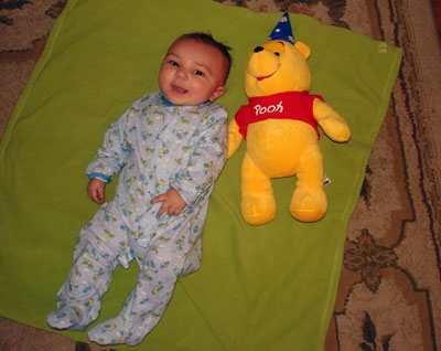 Baby Bear with Pooh