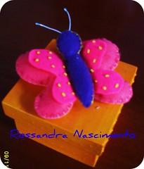 Caixa com borboleta (Rossandra Nascimento) Tags: caixa borboleta feltro mdf caseado tintaacrilica tintarelevo