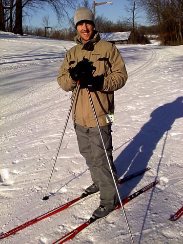 Kyle skiing