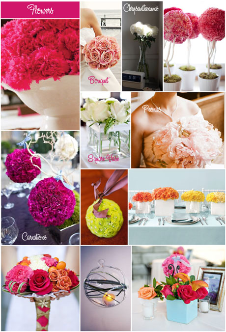 Wedding Mood Boards - Flowers