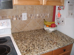 Santa Cecilia Granite with Tile Backsplash - Charlotte, NC (granite-charlotte) Tags: kitchen tile sink backsplash granitecountertops tilebacksplash tiledesign granitecounters granitecolors granitecharlotte tileexamples graniteedge graniteedges granitephotos granitetops