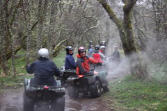 team quad bike trip on highland estate