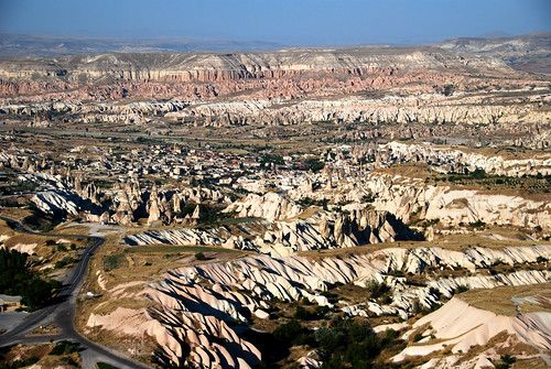 view from atop uchisar castle, cappadocia