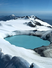 Ruehepu Lake (ken mccown) Tags: newzealand lake snow volcano snowcap ruehepu
