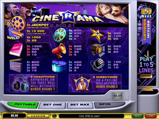 free Cinerama slot mini symbol