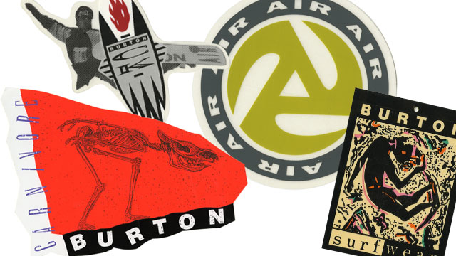 burton snowboarding logos. 1989 Bar Logo (bottom right)-