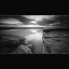 Dunraven BW (Scott Howse) Tags: longexposure sky water wales bay sand rocks lee filters southerndown dunraven nd110 09h