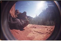 FishEye_RL2_023 (Jim & Claire) Tags: arizona film 35mm project lomography toycamera sedona fisheye rolls 52 sundaymonkey