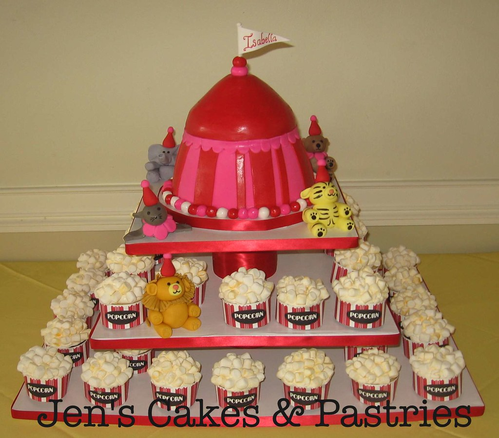 Carnival Cupcake Tower Lillipies Tags Cake Nj Princeton Fondantanimals Circuscupcaketower