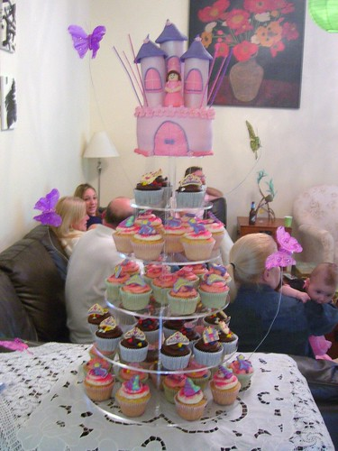 Gracie's Princess Cupcake Tower