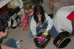 Megan got moon shoes from Santa (HIRH_MOM) Tags: christmas family arizona beautiful portraits fun familyfun moonshoes photosbykathleen68 chritmas2009