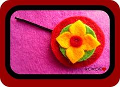 HORQUILLA KYOTO (KOKORO Heartmade) Tags: handmade boda moda craft clip detalles pelo cabello regalos kokoro horquilla comuniones artesano fieltro accesorio