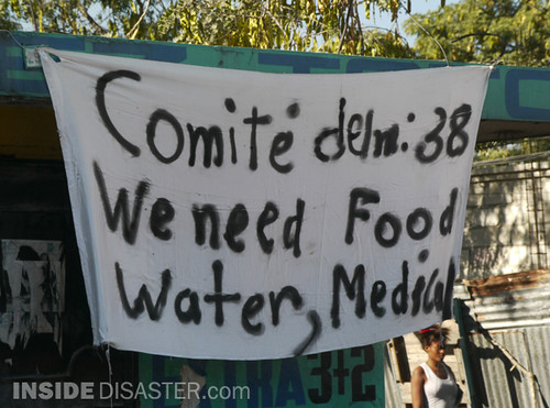 We need food, water, medecin