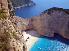 Shipwreck Bay or Navagio beach