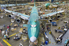 First 747-8 in Factory With Engines
